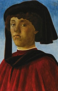Botticelli, Portrait of Young Man Wearing Mazzocchio