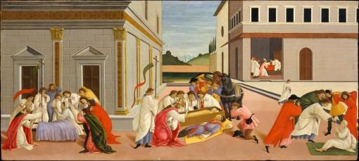 Botticelli, St. Zenobius Raises Dead