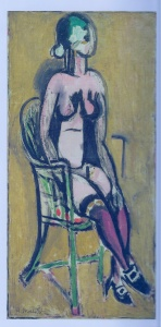 Matisse, Seated Figure with Violet Stockings