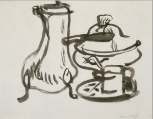 Matisse, Still Life with Chocolate Pot (ink)