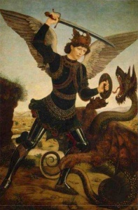 Pollaiolo, St Michael Killing Dragon