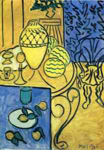 Matisse, Interior in Yellow and Blue