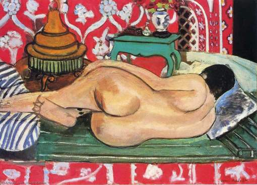 Matisse, Reclining Nude, Back View